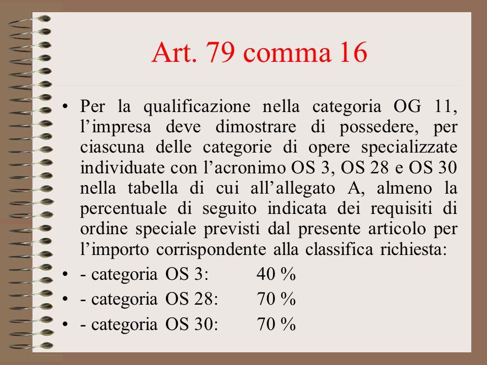 Art. 79 comma 16