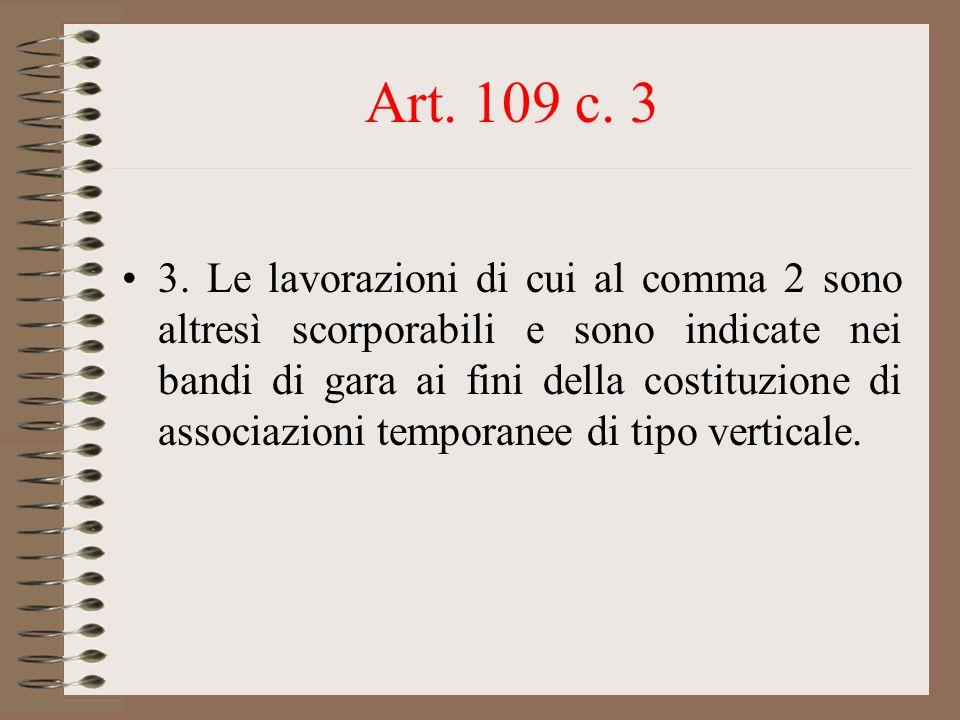 Art. 109 c. 3