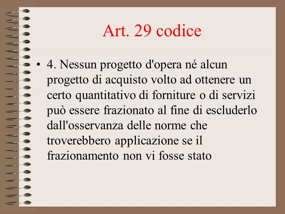 Art. 29 codice