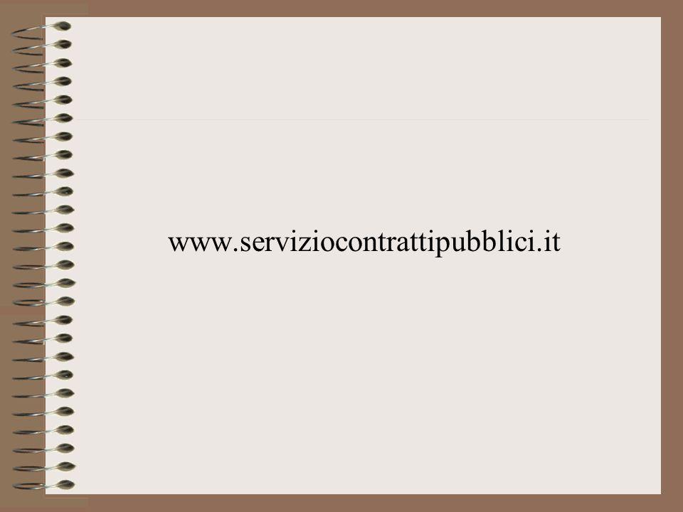 www.serviziocontrattipubblici.it