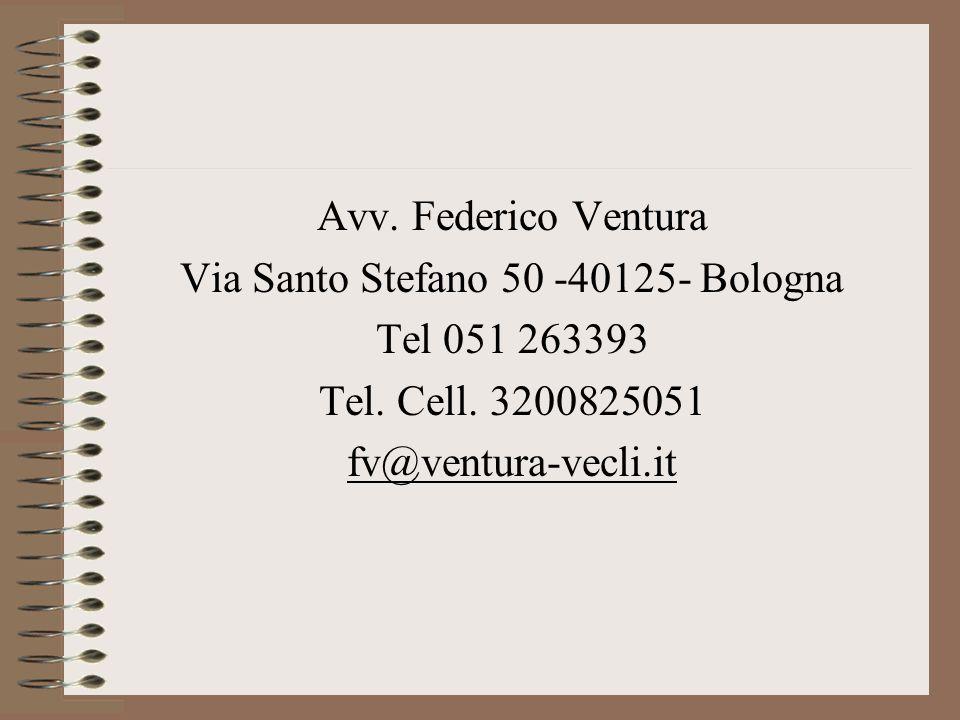 Via Santo Stefano 50 -40125- Bologna