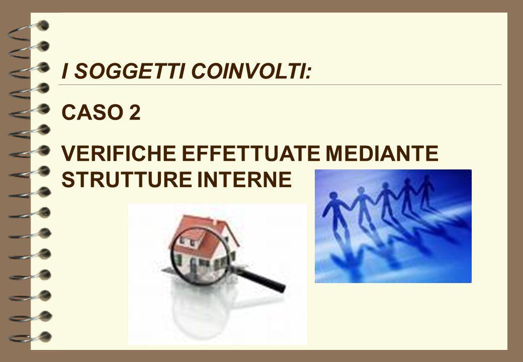 I SOGGETTI COINVOLTI: CASO 2 VERIFICHE EFFETTUATE MEDIANTE STRUTTURE INTERNE