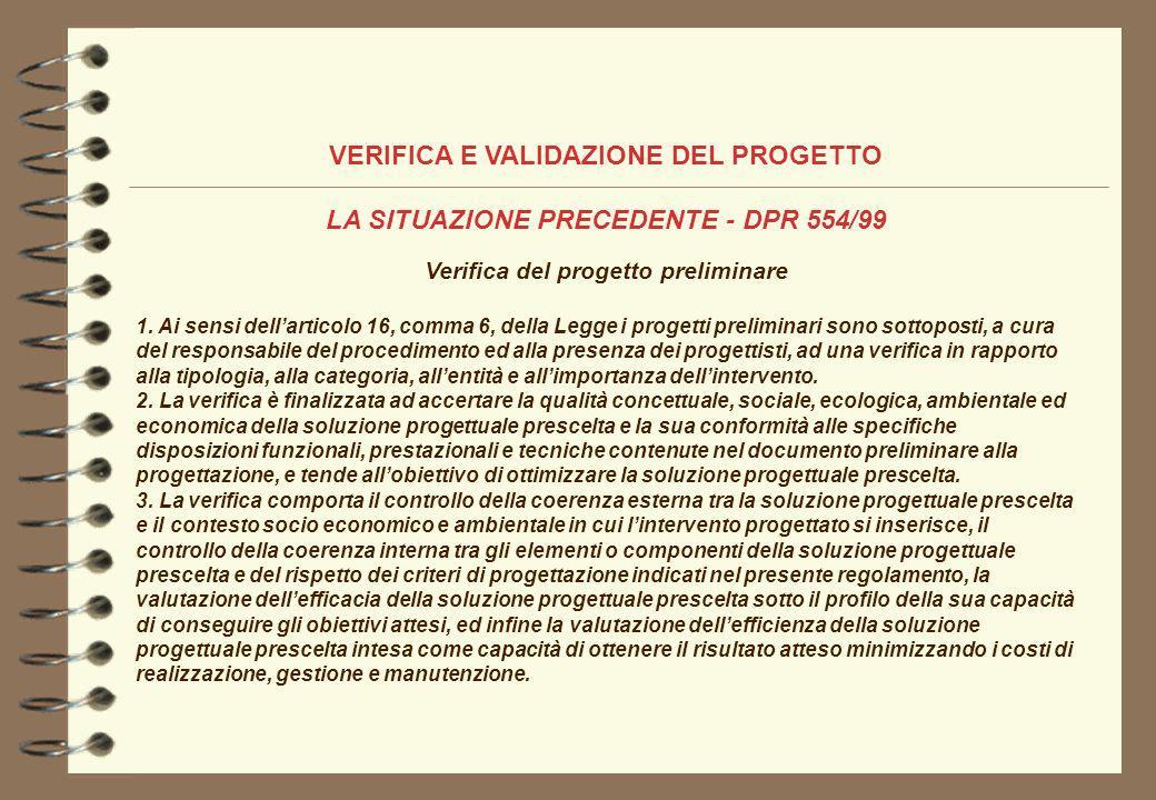 VERIFICA E VALIDAZIONE DEL PROGETTO