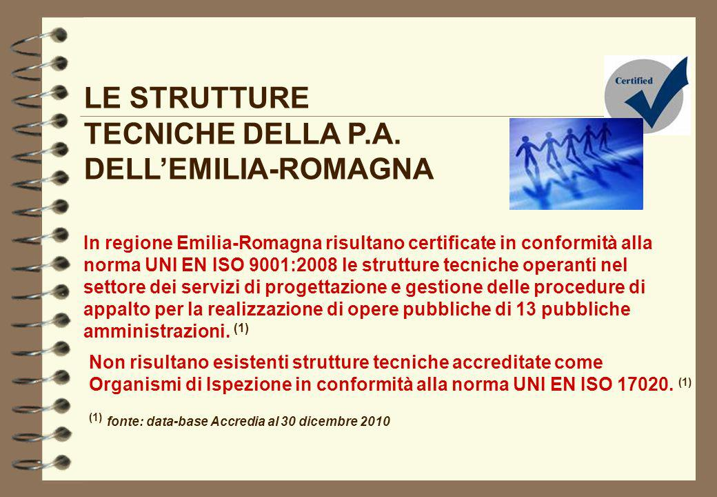 LE STRUTTURE TECNICHE DELLA P.A. DELL'EMILIA-ROMAGNA