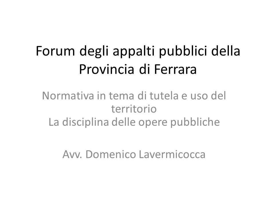 Forum degli appalti pubblici della Provincia di Ferrara