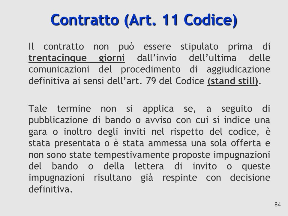 Contratto (Art. 11 Codice)