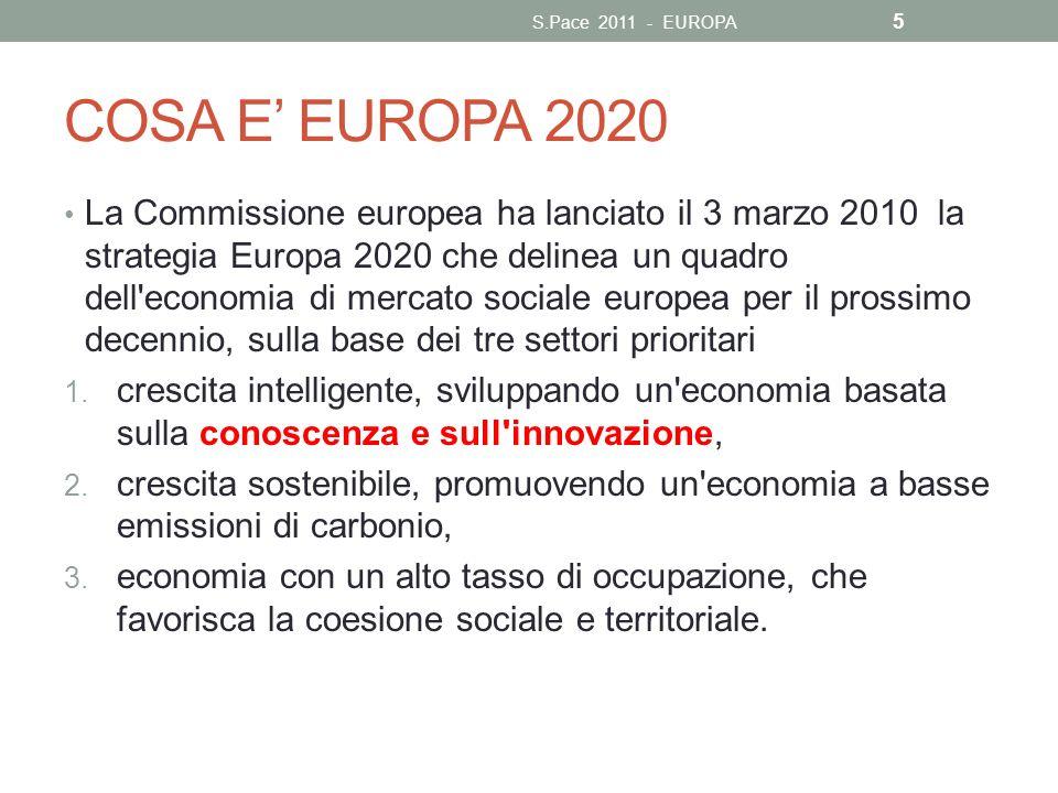 S.Pace 2011 - EUROPA COSA E' EUROPA 2020.