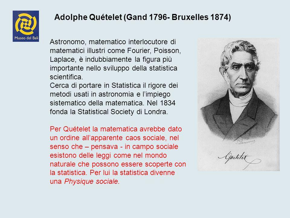 Adolphe Quételet (Gand 1796- Bruxelles 1874)