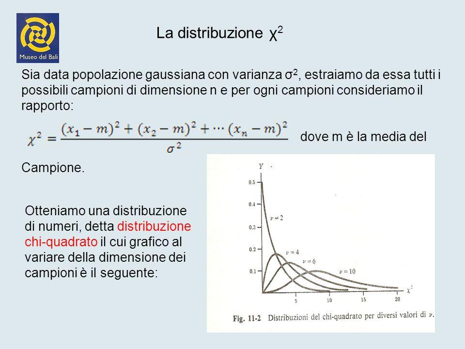 La distribuzione χ2