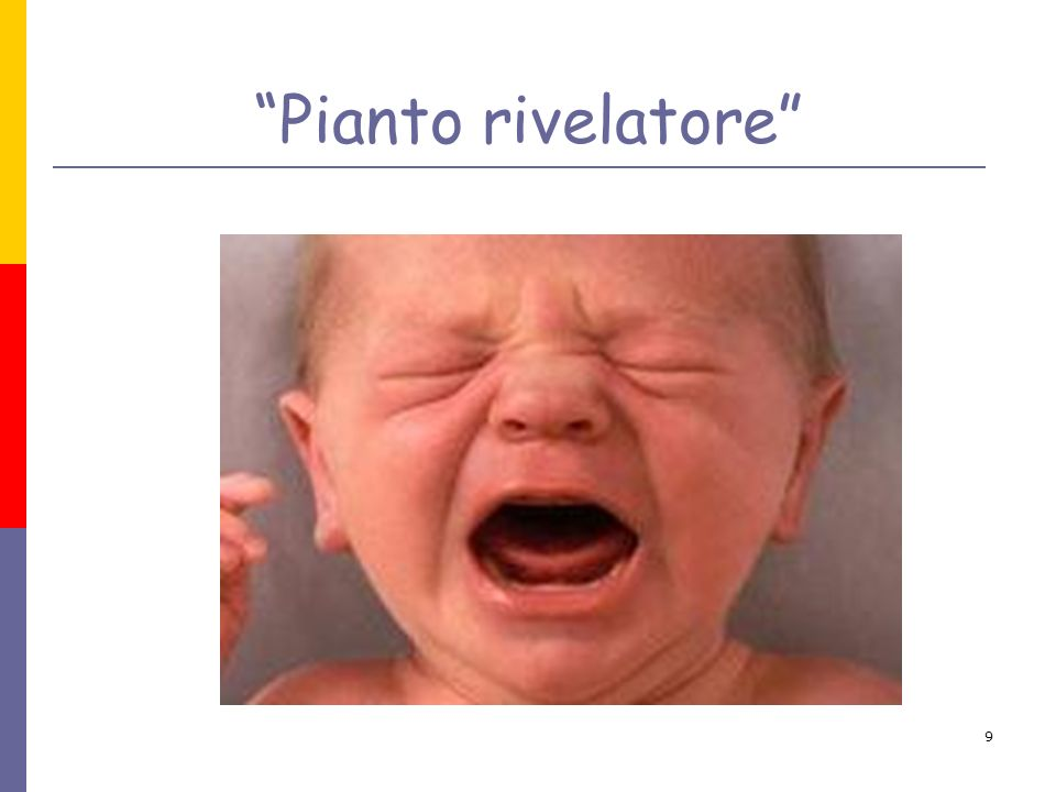 Pianto rivelatore