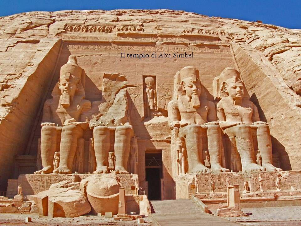 Il tempio di Abu Simbel Atti di culto: CULTO DEI MORTI (piramidi, sarcofagi, mummificazione, libro dei morti, corredo funebre) TEMPLI, miti.
