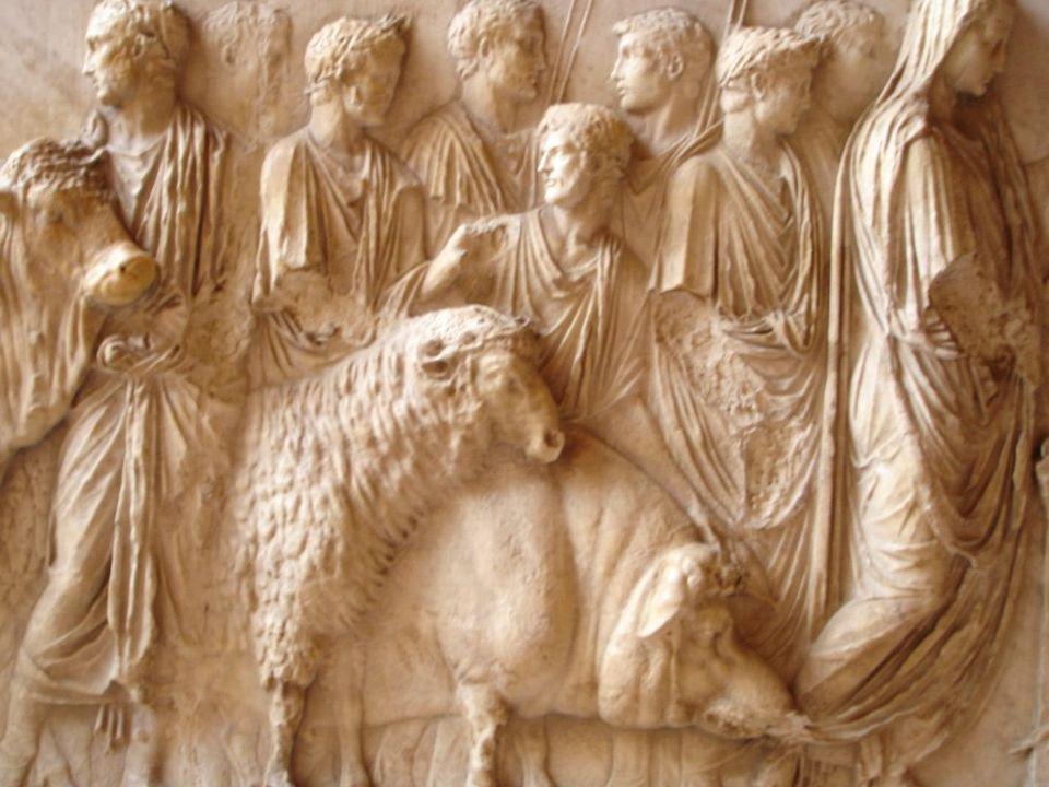 Atti di culto: Templi, sacrifici e feste in onore degli dei, aruspicinia per prevedere il futuro