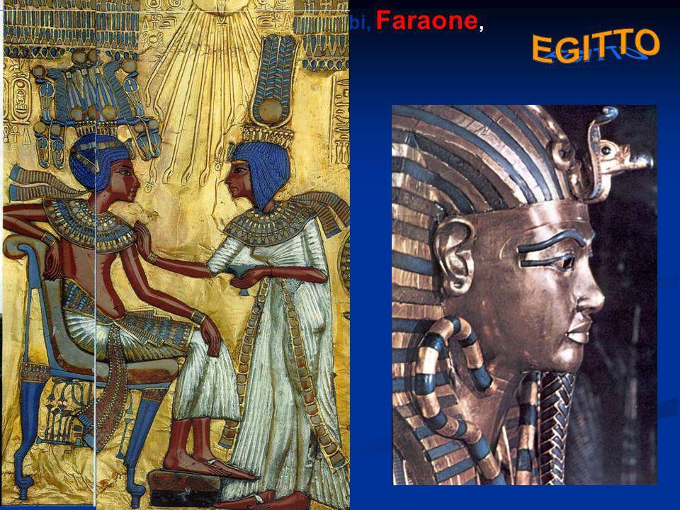 Le principali: Ra, Iside, Osiride, Anubi, Faraone, Nilo