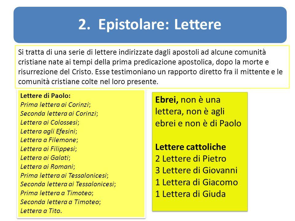 2. Epistolare: Lettere