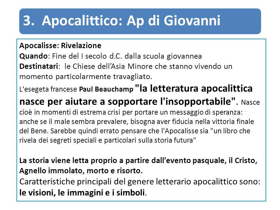 3. Apocalittico: Ap di Giovanni