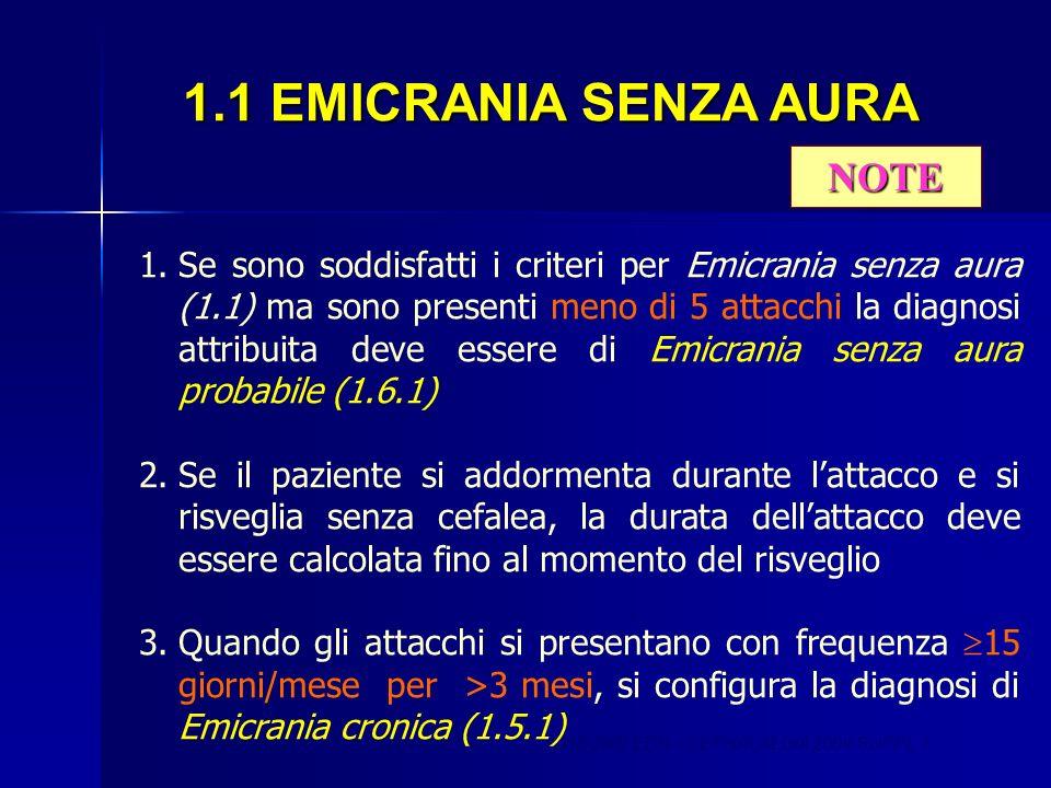 1.1 EMICRANIA SENZA AURA NOTE