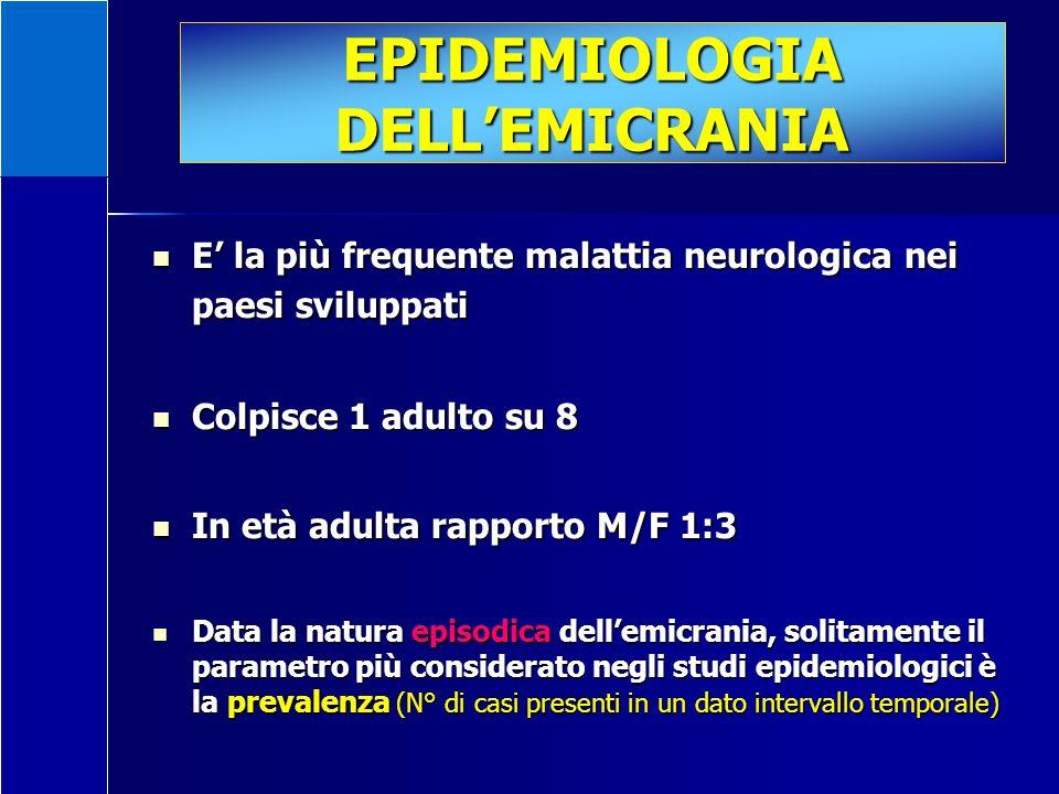 EPIDEMIOLOGIA DELL'EMICRANIA