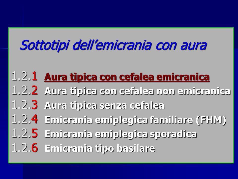 Sottotipi dell'emicrania con aura 1. 2