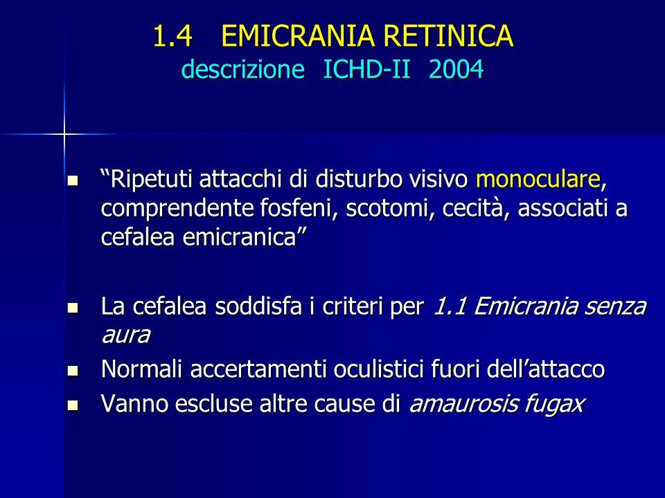 1.4 EMICRANIA RETINICA descrizione ICHD-II 2004