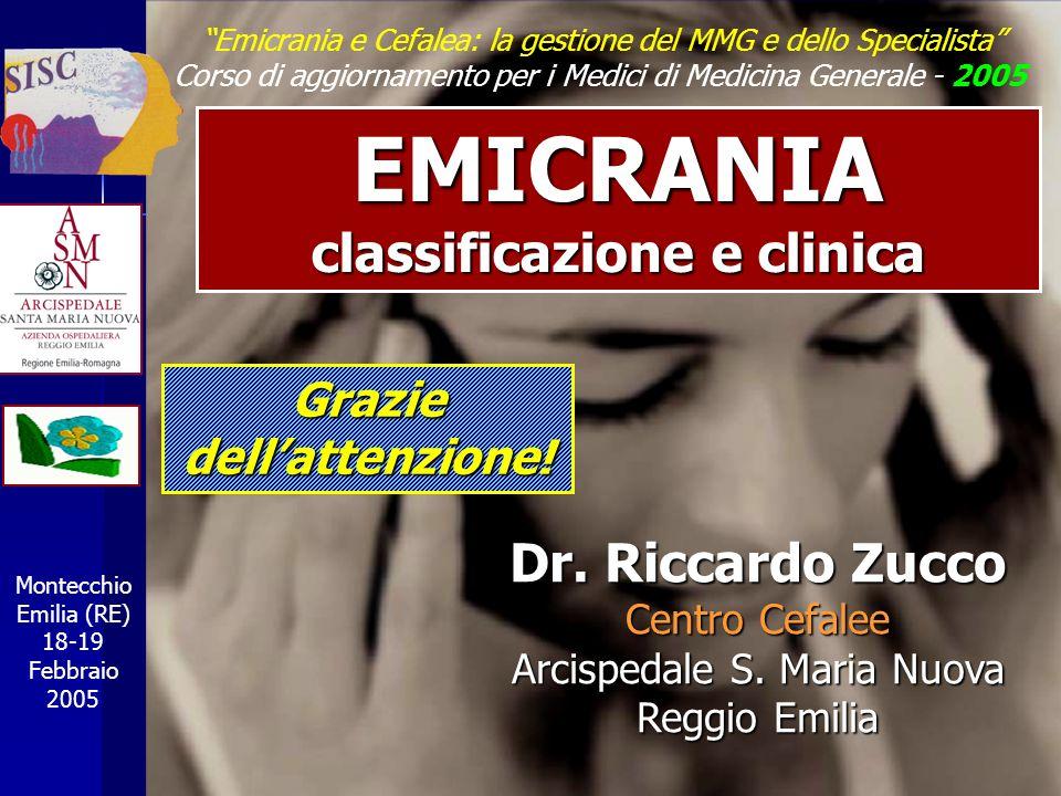 classificazione e clinica Grazie dell'attenzione!