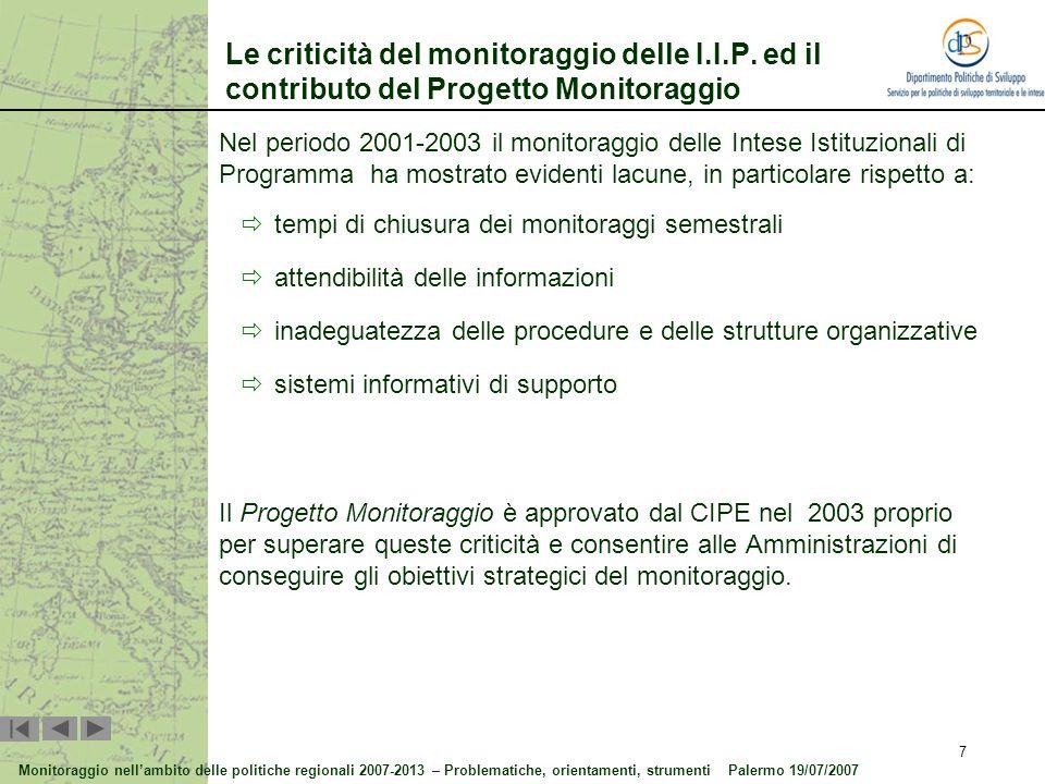 Progetto Monitoraggio - QCS