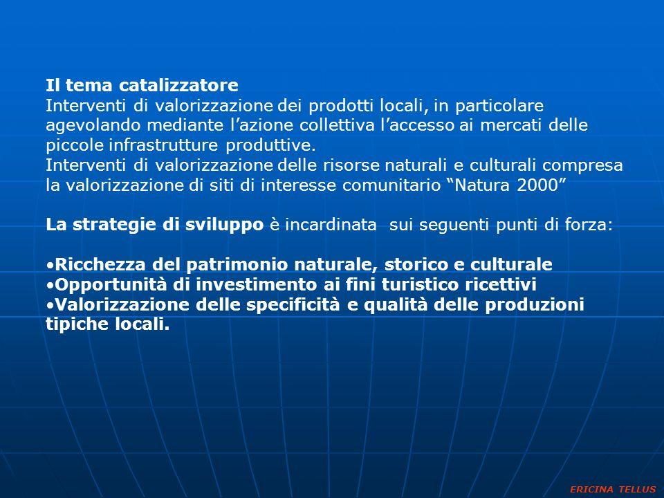 La strategie di sviluppo è incardinata sui seguenti punti di forza: