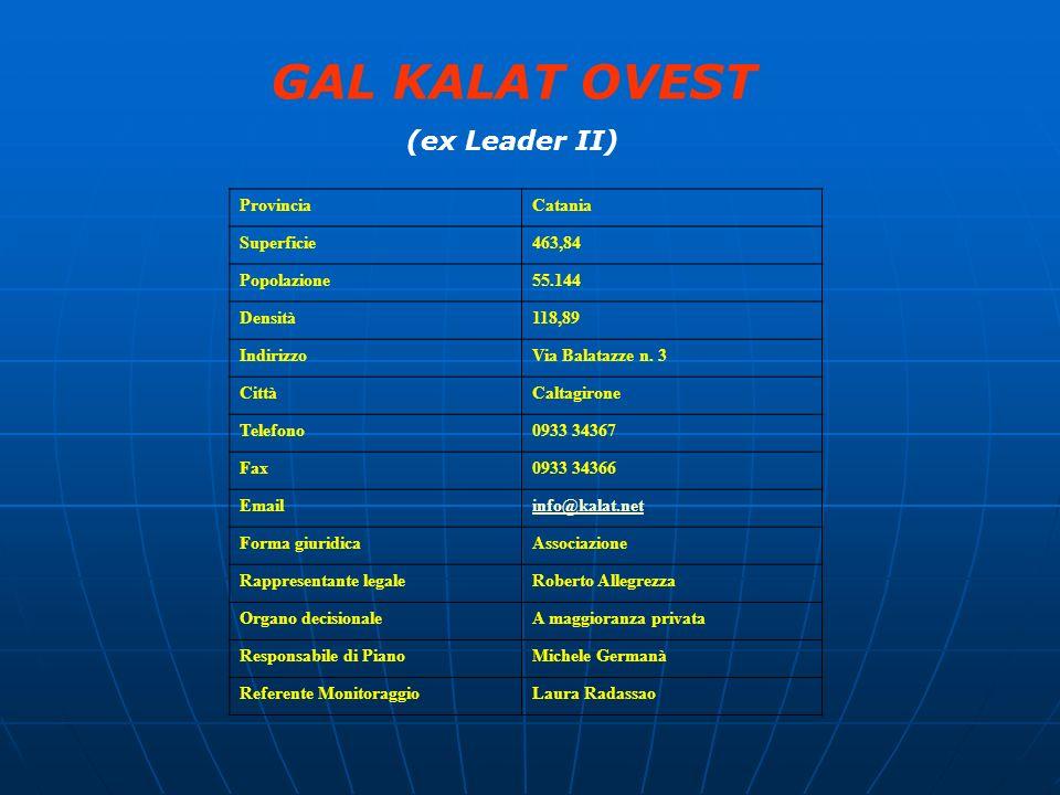 GAL KALAT OVEST (ex Leader II) Provincia Catania Superficie 463,84