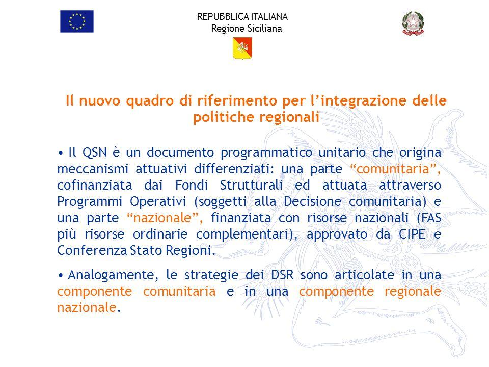 Il nuovo quadro di riferimento per l'integrazione delle politiche regionali