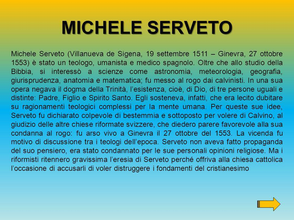 MICHELE SERVETO