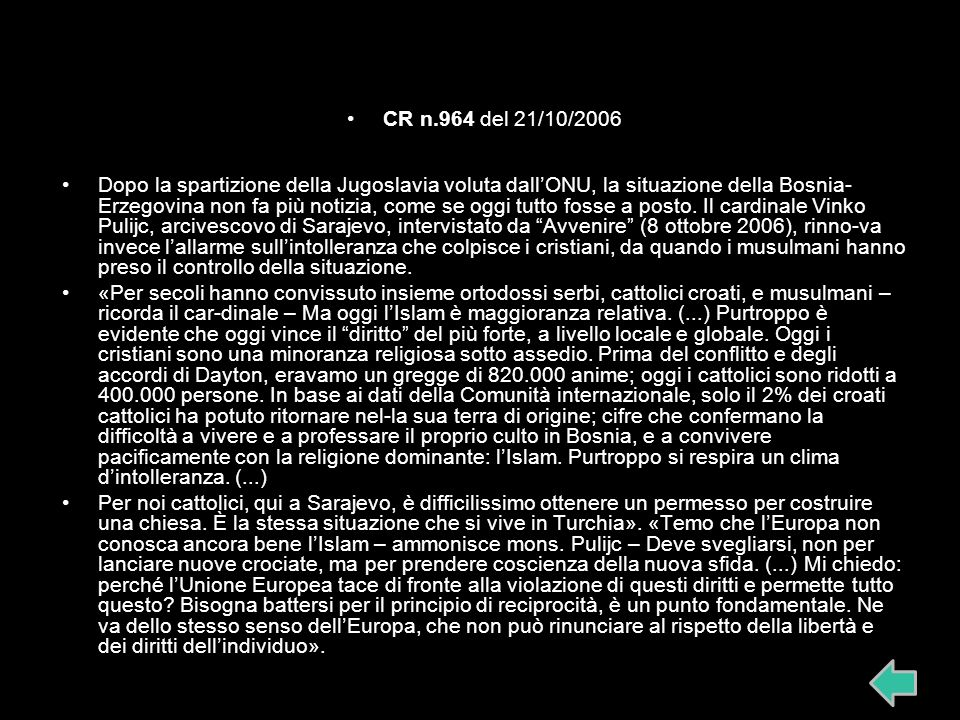 CR n.964 del 21/10/2006