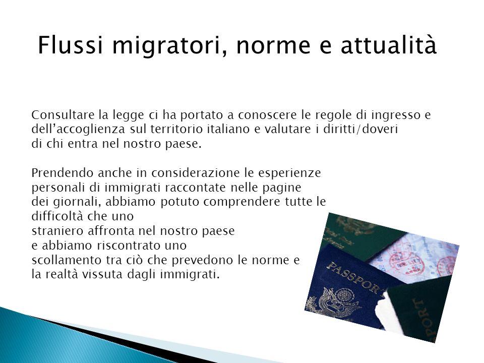 Flussi migratori, norme e attualità