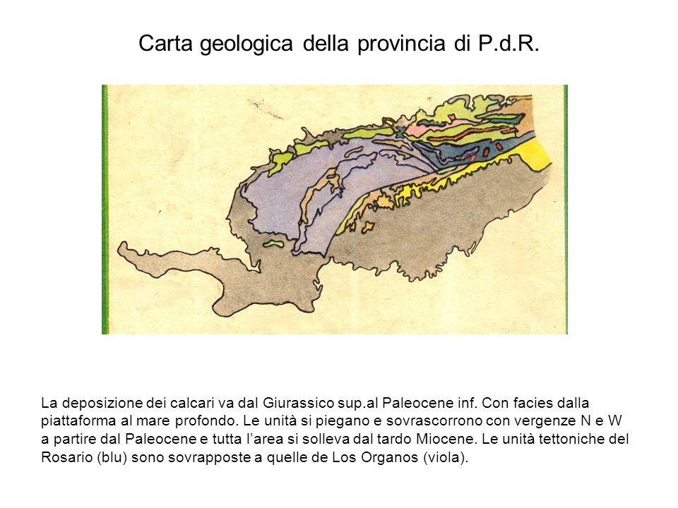 Carta geologica della provincia di P.d.R.