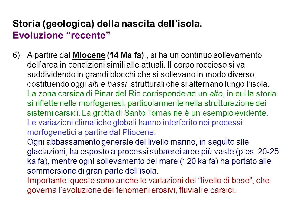 Storia (geologica) della nascita dell'isola. Evoluzione recente