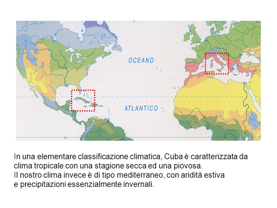 In una elementare classificazione climatica, Cuba è caratterizzata da