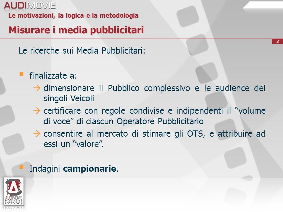 Le ricerche sui Media Pubblicitari: finalizzate a: