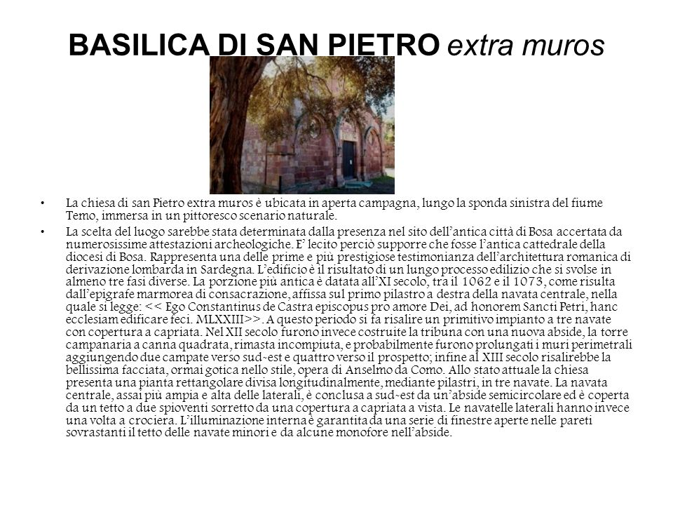 BASILICA DI SAN PIETRO extra muros