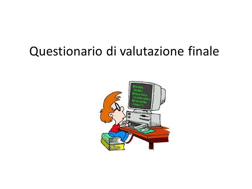 Questionario di valutazione finale