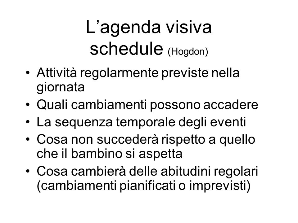L'agenda visiva schedule (Hogdon)