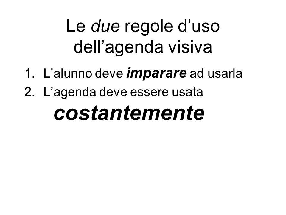 Le due regole d'uso dell'agenda visiva