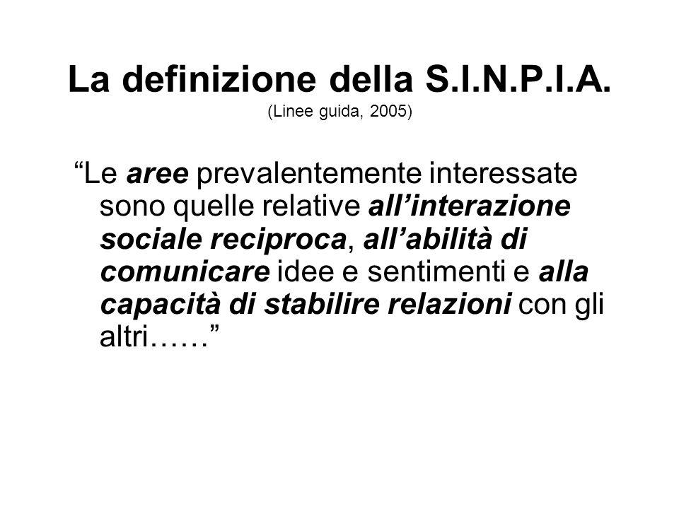 La definizione della S.I.N.P.I.A. (Linee guida, 2005)
