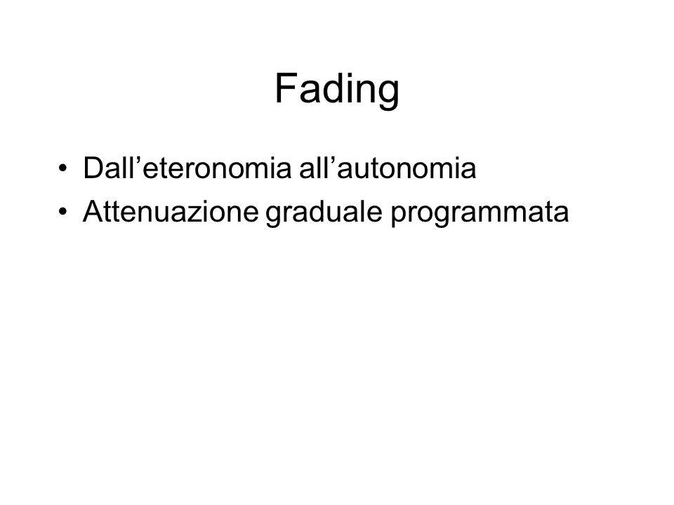 Fading Dall'eteronomia all'autonomia Attenuazione graduale programmata