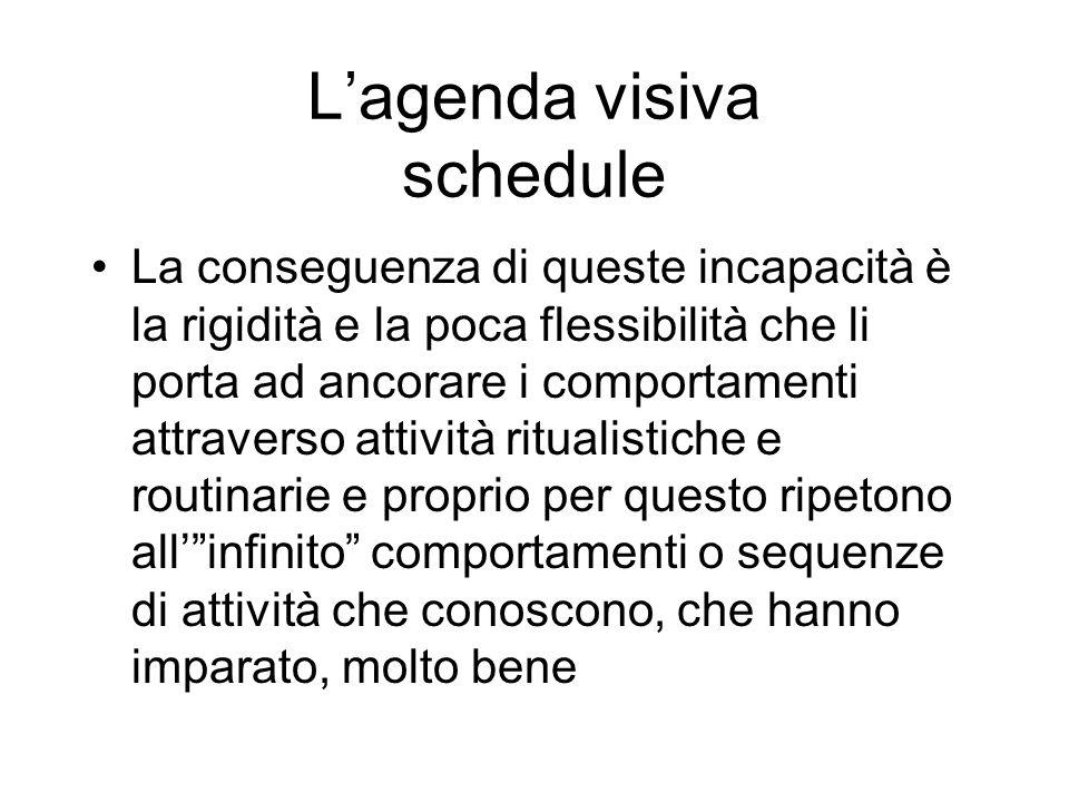 L'agenda visiva schedule
