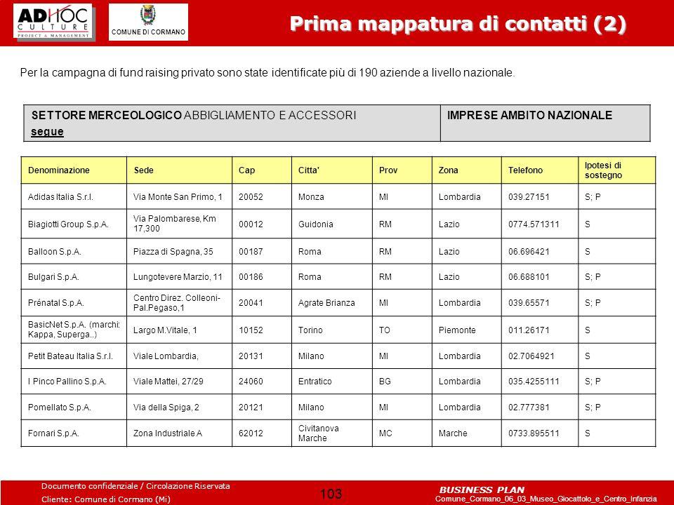 Prima mappatura di contatti (2)