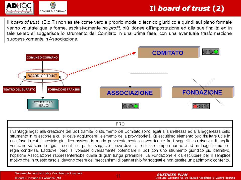 Il board of trust (2) COMITATO ASSOCIAZIONE FONDAZIONE