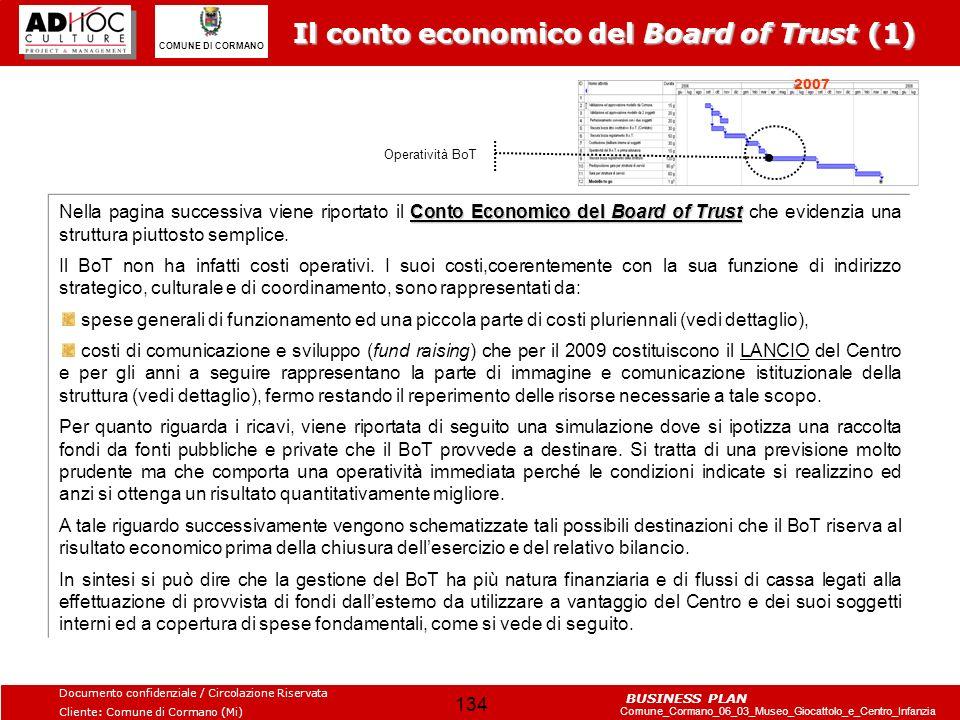 Il conto economico del Board of Trust (1)