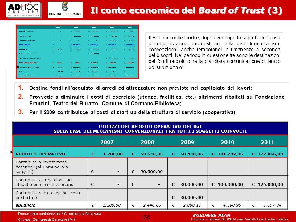 Il conto economico del Board of Trust (3)