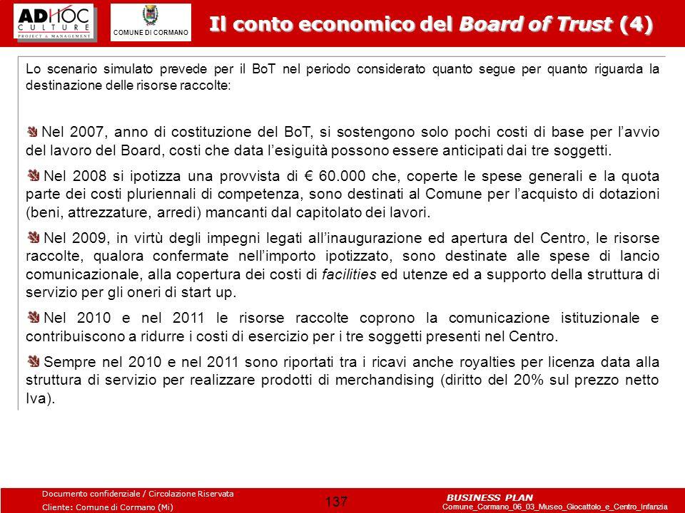 Il conto economico del Board of Trust (4)