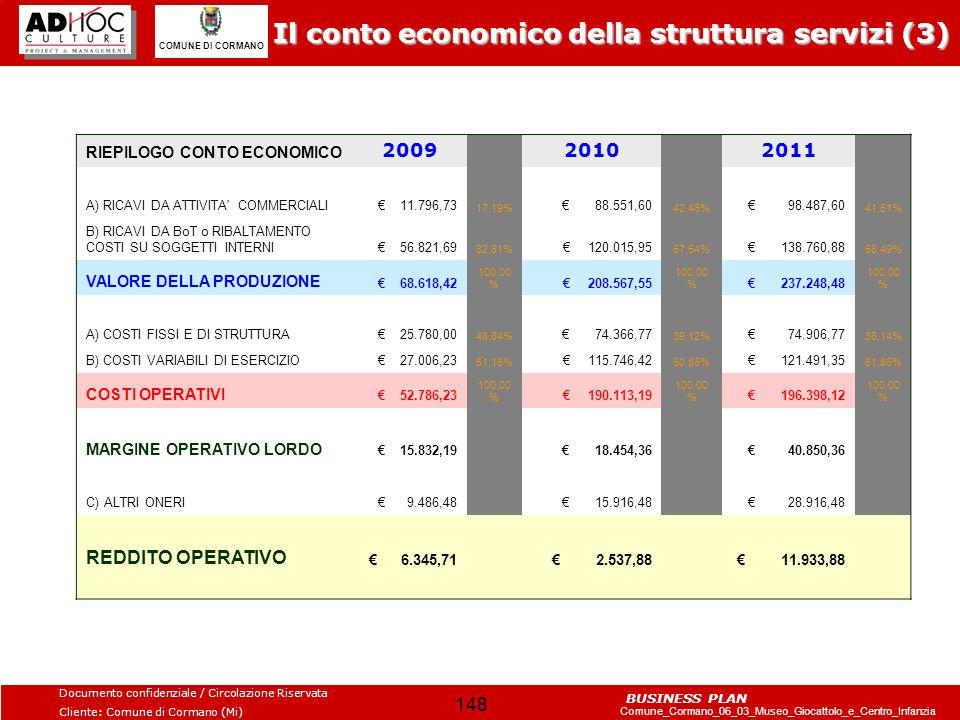 Il conto economico della struttura servizi (3)