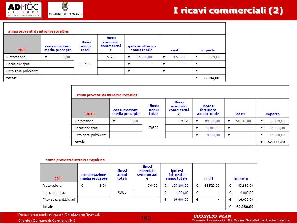 I ricavi commerciali (2)