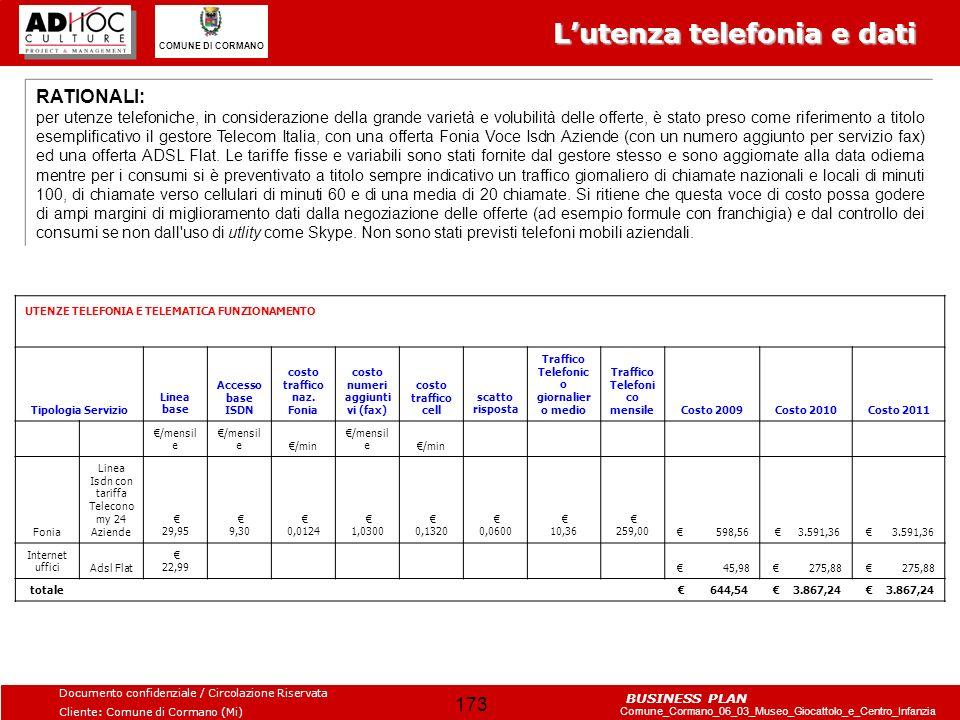 L'utenza telefonia e dati